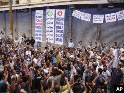 Антиправительственный протест в Хомсе, Сирия, 23 сентября 2011