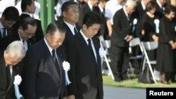 Pamje nga ceremonia e sotme e shënimit të përvjetorit të 73-të të sulmit në Hiroshima.