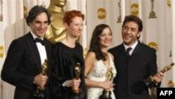 برندگان اسکار بهترین بازیگران نقش اول و مکمل زن و مرد ( عکس: AFP)