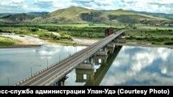 Река Селенга в Улан-Удэ