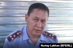 Алматы облыстық полиция департаментіне қарасты көші-қон қызметінің бастығы Ержан Алтаев. 19 шілде 2019 жыл.