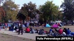 Мигранты в Белграде