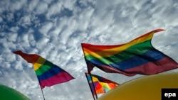 Акция в защиту прав ЛГБТ в Петербурге