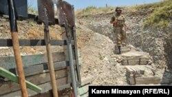 Nagorno-Karabakh -- A Karabakh Armenian frontline position in Martakert district, 20Jul2012.