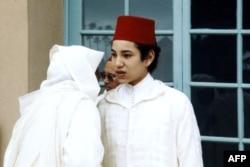 محمد نوجوان در نوزدهمین سالگرد پادشاهی پدرش در ۱۹۷۰