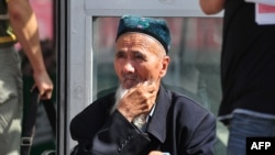 An elderly Uyghur man in Urumqi, the capital of China's Xinjiang Province (file photo)