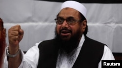Hafiz Saeed, head of the Jamaat-ud-Dawa organisation and founder of Lashkar-e-Taiba.