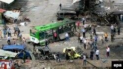 Awtobus stansiýasynda bolan partlamanyň netijesi, Tartus, 23-nji maý, 2016