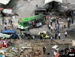 Последствия взрыва в Джабле. 23 мая 2016 года
