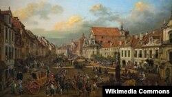 Бэрнарда Бэлёта (Каналета), «Кракаўскае прадмесьце ў Варшаве» (1774)
