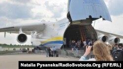 Український літак Antonov AN-225 «Мрія» на Авіасалоні у Берліні. 28 квітня, 2018 року