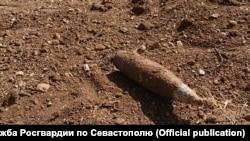 Снаряди на пляжі в Севастополі