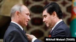 Владимир Путин и президент Туркменистана Гурбангулы Бердымухамедов