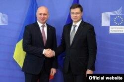 La întîlnirea cu Valdis Dombrovskis