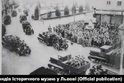 Насельніцтва Львова сустракае Чырвоную армію
