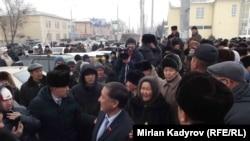 Митинг в Нарыне. 27 января 2016 года.