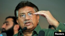 Former Pakistani President Pervez Musharraf pictured here earlier this year (file photo)