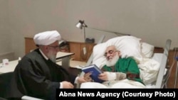 The photo Published by Abna news agency shows Shahroudi at a hospital in Hannover, Germany.