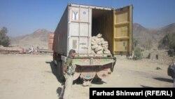 Контейнер НАТО остановлен на границе Афганистана и Пакистана