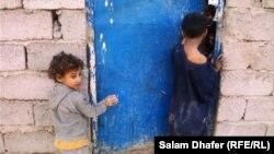 أطفال فقراء في محافظة ميسان