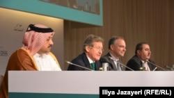وزير خارجية العراق(اقصى اليمين) خلال احدى جلسات منتدى حوار المنامة