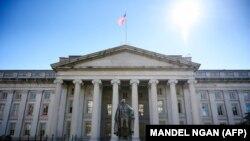 Здание Министерства финансов США в Вашингтоне.