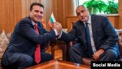 Архивска фотографија- Премиерите Зоран Заев и Бојко Борисов