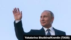 ՌԴ նախագահ Վլադիմիր Պուտինը երդմնակալության արարողության ժամանակ, Մոսկվա, Կրեմլ, 7-ը մայիսի, 2018թ․