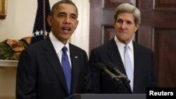 ԱՄՆ - Նախագահ Բարաք Օբաման հայտարարում է սենատոր Ջոն Քերրիին պետքարտուղարի պաշտոնում առաջադրելու մասին, Վաշինգտոն, 21-ը դեկտեմբերի, 2012թ.