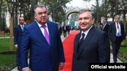 Раҳбарони Тоҷикистону Узбекистон