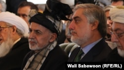 The clock is ticking on the uneasy partnership of Afghan President Ashraf Ghani (left) and Chief Executive Abdullah Abdullah.