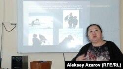 Бахыт Оразымбетова, уполномоченный ЮНЕСКО по казахстанским музеям. Алматы, 19 февраля 2015 года.