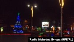 Охрид украсен за Нова Година.