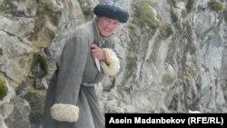 На съемках фильма «Уркун» о событиях 1916 года в Кыргызстане. Март 2016 года.