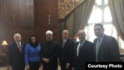 وفد الكونجرس الاميركي يلتقي شيخ الازهر في القاهرة، آذار 2015