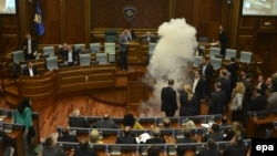 Incident u Skupštini Kosova