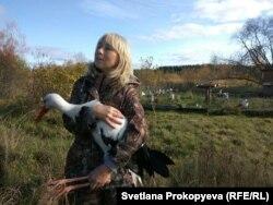 Марина Сиденко и ее птицы
