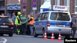 Полиция на месте происшествия в Мюнстере. 7 апреля 2018 года.