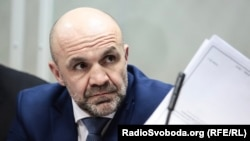 Vladyslav Manher attends a court hearing in Kyiv in February 2019.