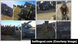 Bellingcat bu fotoları sosial mediadan toplayıb