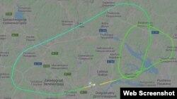Схема аварийного полета с сайта Flihtradar24