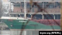 Танкер GEORGIANA H у закритому порту Керчі, 10 лютого 2018 року