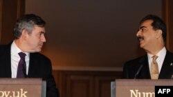 کنفرانس مشترک خبری نخست وزیران پاکستان و بریتانیا در لندن