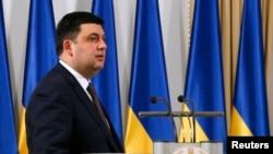 Ukrainanyň parlamentiniň başlygy Wolodymyr Hroysman, Kiýew