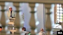 Falja e Fitër Bajramit në xhaminë e Shkupit
