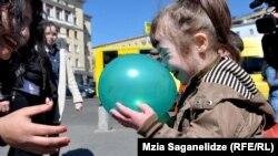 დაუნის სინდრომის მსოფლიო დღისადმი მიძღვნილი მსვლელობა თბილისში