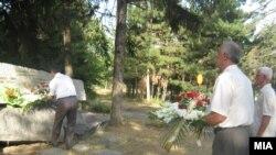"""Архивска фотграфија - Одбележување на годишнината од загинувањето на резервистите кај Карпалак. Касарна """"Мирче Ацев"""" во Прилеп."""