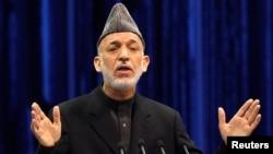 Outgoing Afghan President Hamid Karzai