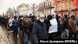 Шествие в Хабаровске в поддержку Сергея Фургала
