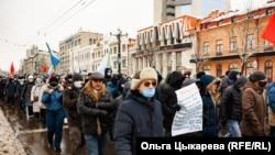 Хабаровск, митинг 7 октября.